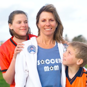 Soccer Mom with Kids